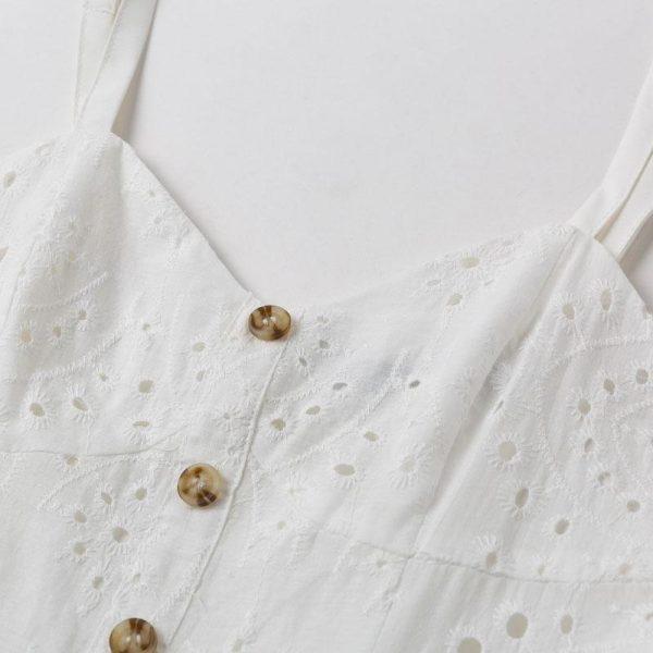 Bohemian White Cotton Dress