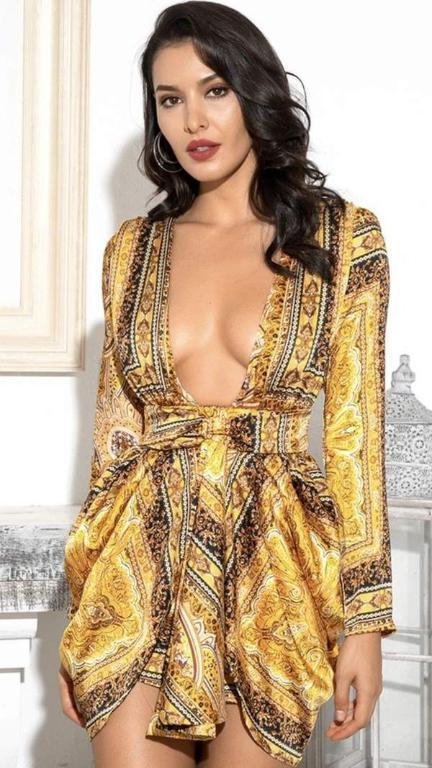 Bohemian Fluid Short Dress