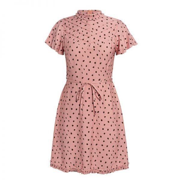 Short Dress With Bohemian Pattern
