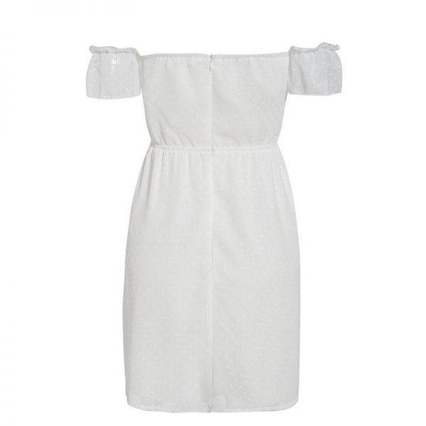 Bohemian White Short Dress