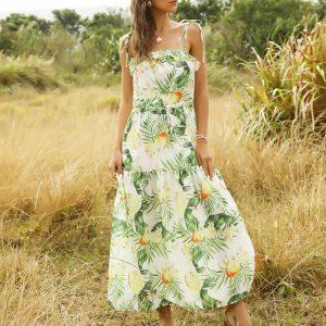 Bohemian Flower Maxi Dress