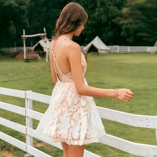 Bohemian Bare Back Dress