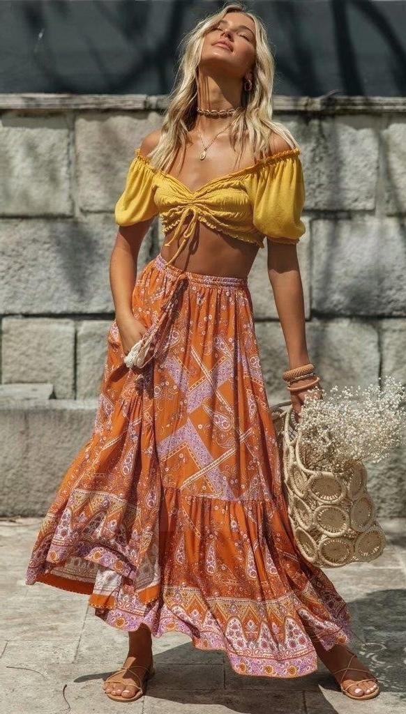 Big bohemian skirt