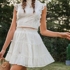 White hippie skirt