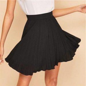 Black bohemian skirt