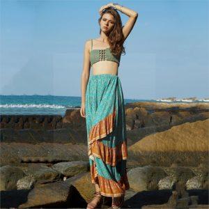 Long skirt blue boheme