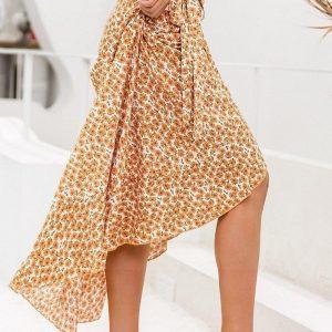 Long skirt boheme lace