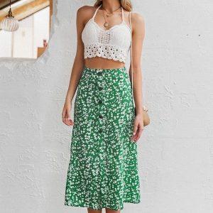 Long skirt boheme green