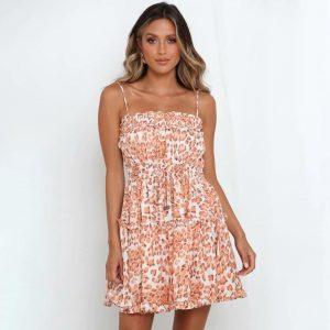Pink bohemian short dress