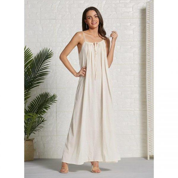 Long dress boheme ecru