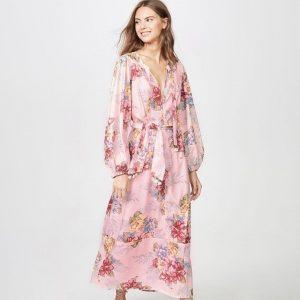 Pink bohemian maxi dress