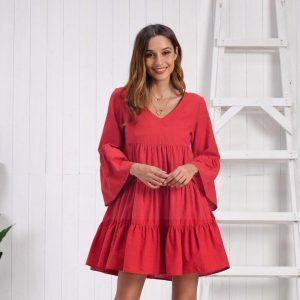 Bohemian style cotton dress