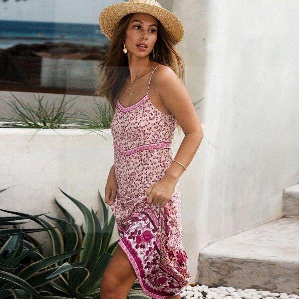 The bohemian style dress