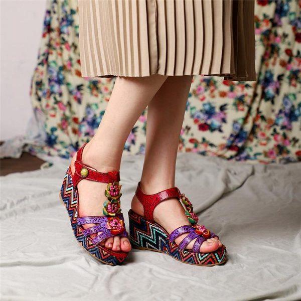 Ethnic Platform Shoes