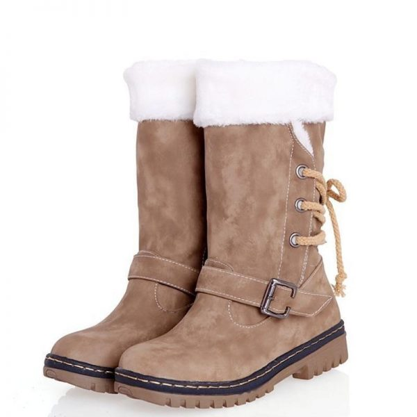Winter Suede Padded Boots