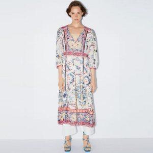 White hippie romantic dress