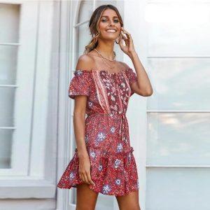 Bohemian chic vintage dress