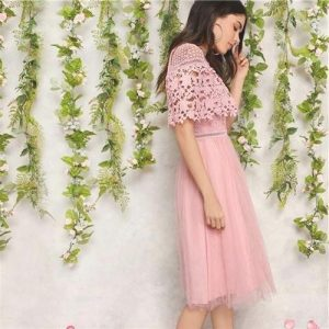 Bohemian lace long dress