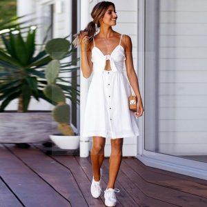 White hippie chic bohemian dress
