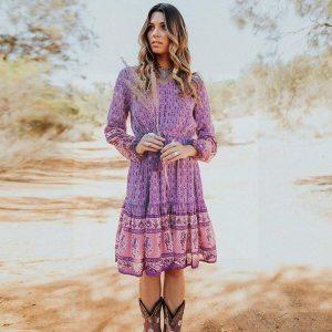 Purple bohemian dress