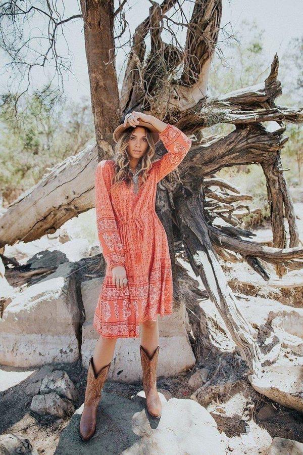 Hippie dress 70's