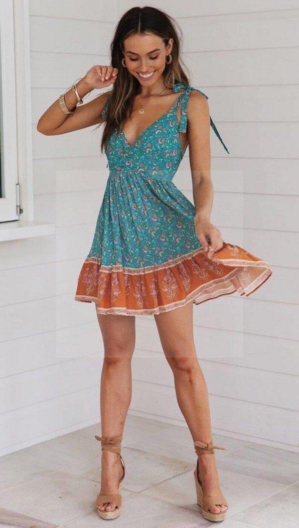 Hippie tie and dye dress