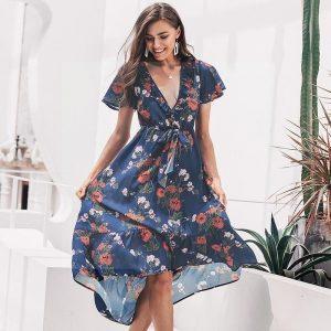 Italian bohemian maxi dress