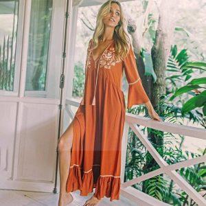 Long dress boho hippie