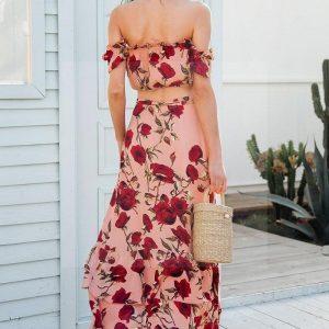Floral bohemian maxi dress