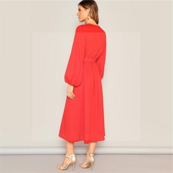 Orange bohemian maxi dress