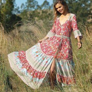Bohemian romantic long dress