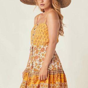 Bohemian chic flower dress